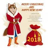 Christmas card with dog 04