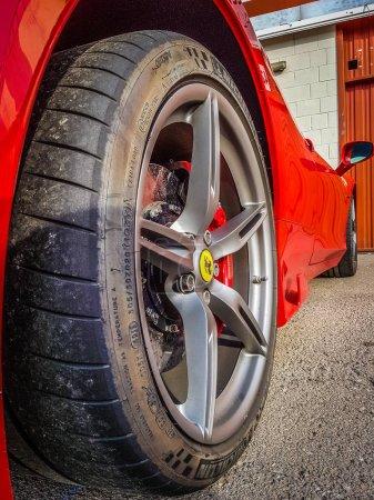 Ferrari 458 supercar parked at