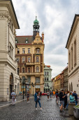 Old Town district of Prague in Czech Republic.