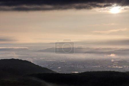 Japan landscape panorama