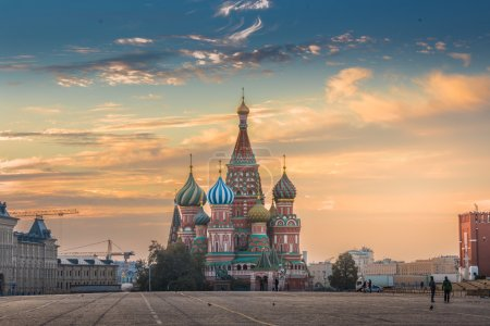 Photo for Moscow, Russia, Red square, view of St. Basil's Cathedral - Royalty Free Image
