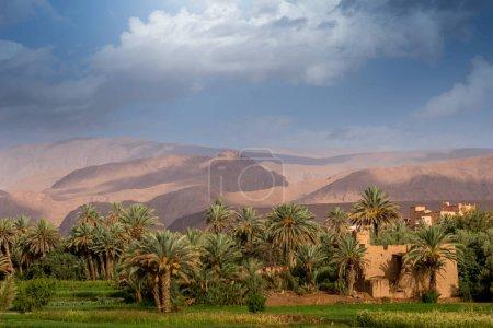 Old city in Sahara desert of Morocco