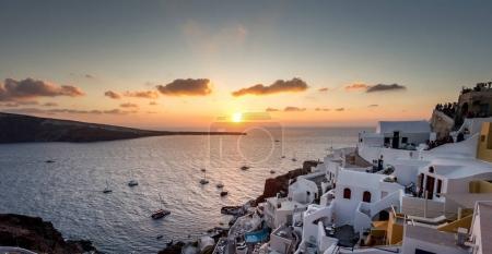 Beautiful city of Santorini, Greece
