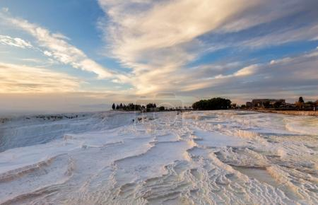 geological formations landscape in Pamukkale