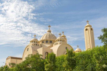 Photo pour Église orthodoxe copte de Charm el-Cheikh (Égypte). Église All Saints. La notion de foi juste. - image libre de droit
