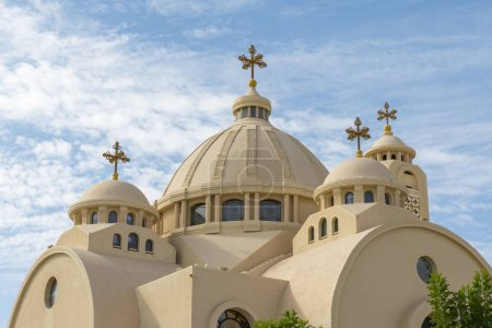 Photo pour Église orthodoxe copte de Charm el-Cheikh (Égypte). - image libre de droit