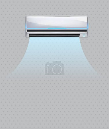Illustration for Air conditioning isolated. conditioner system realistic vector object - Royalty Free Image