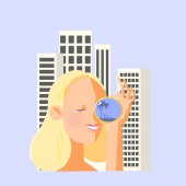 Girl looking through a telescope housing Rental Property service