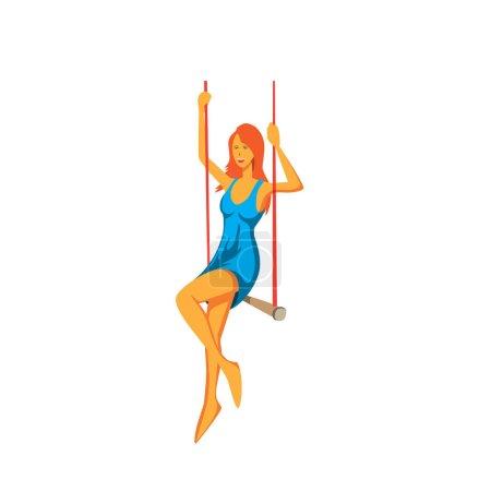 aerial acrobat. Circus performances
