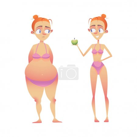 From fat to slim and healthy body