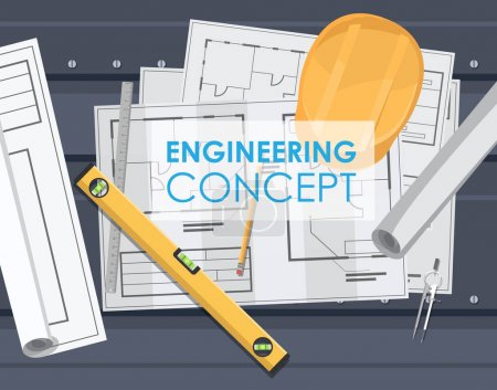 technical engineering drawing plan