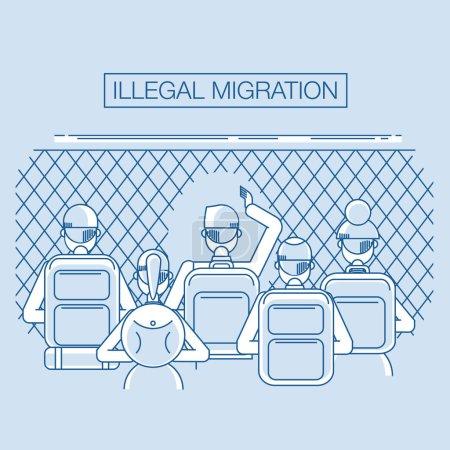 Refugee help concept