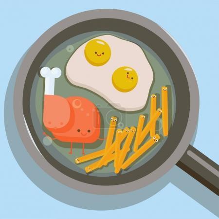 cheerful hearty breakfast