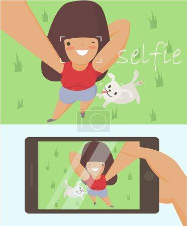 doing selfie for social networks