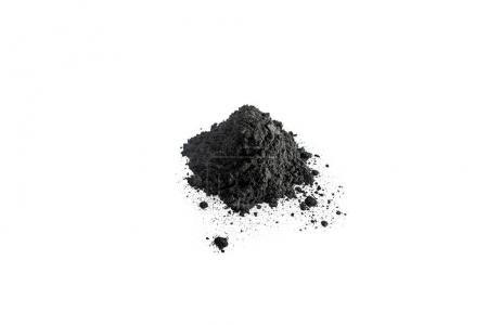 Activated charcoal powder shot with macro lens