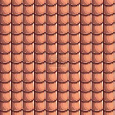 Cartoon Roof Tiles Seamless Background