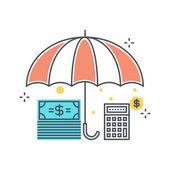 Color line income insuance concept illustration icon