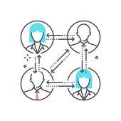 Color line relationship illustration