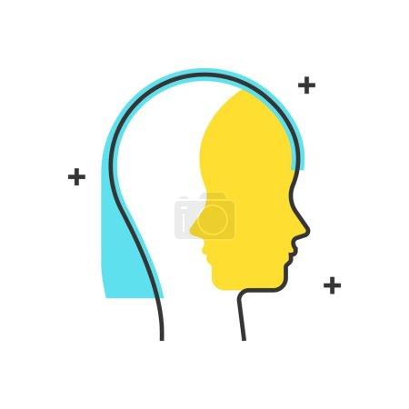 Color box icon, persona concept