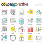 Color box icons shopping concept illustrations icons backgrounds and graphics The illustration is colorful flat vector pixel perfect suitable for web and print It is linear stokes and fills