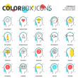 Постер, плакат: Color box icons business and personality concept