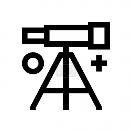 Telescope mini line, icon