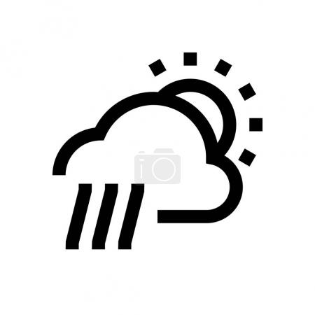 Weather condition mini line, icon