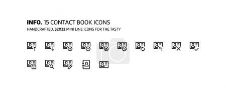 Emotions mini line, illustrations, icons