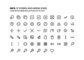 Symbols mini line illustrations icons