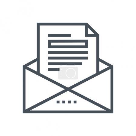 Ilustración de Icono de correo de negocios adecuado para interfaces, sitios web y medios impresos y gráficos de información. Icono de vector de línea - Imagen libre de derechos