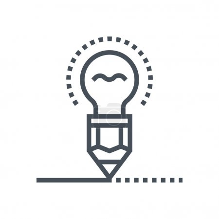 Pen and lamp icon