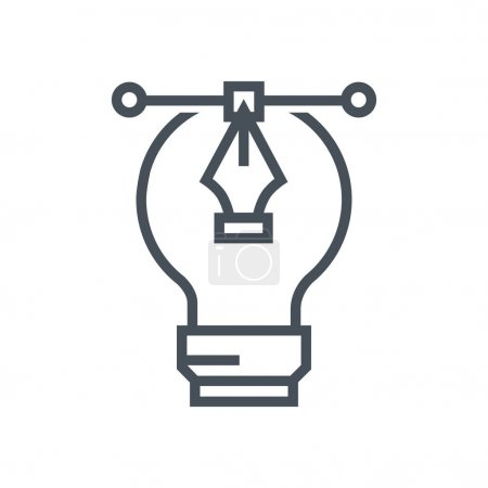 Graphics design lamp icon