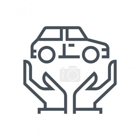 Transport insurance icon