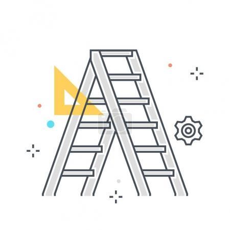 Color line, laddar concept illustration, icon