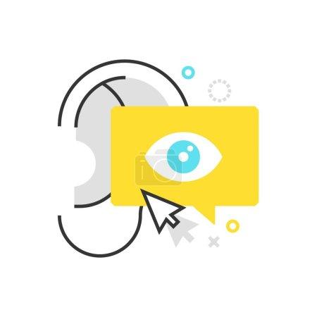 Color box buzz marketing icon