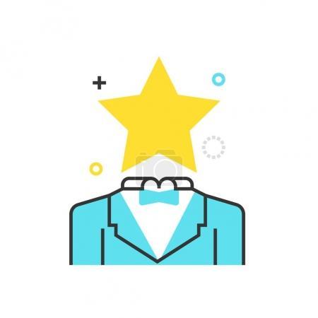 Color box premium service icon, background and graphics