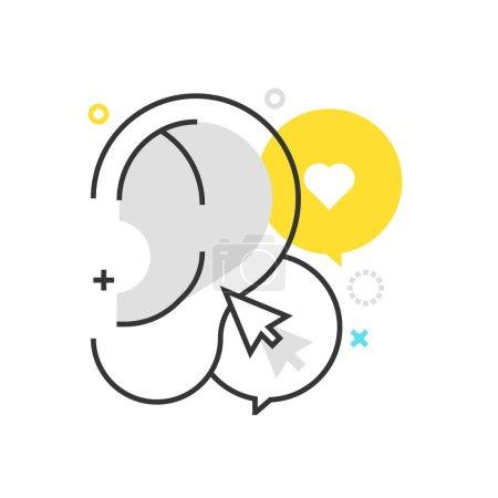 Color box icon, buzz marketing illustration, icon