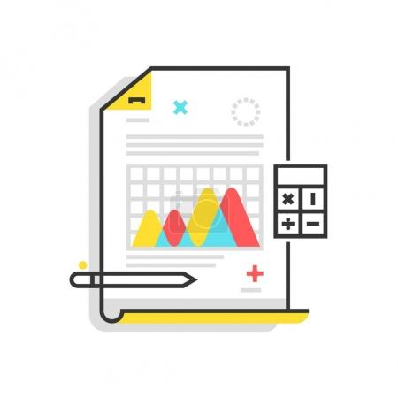 Color box icon, statistics illustration, icon