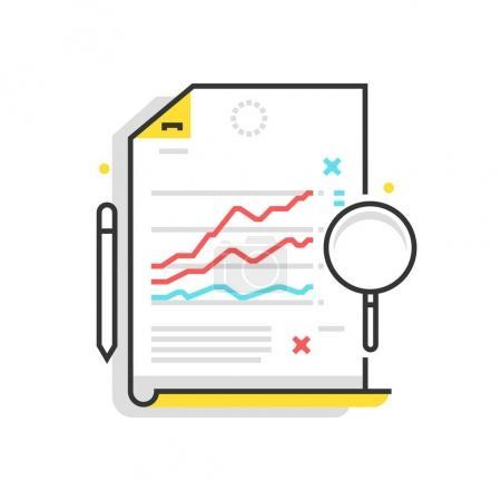 Color box icon, statistics illustration, icon