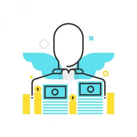 Color box icon, sponsor illustration, icon