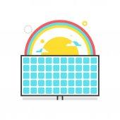 Color box icon solar power illustration icon