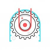 Color box icon working cog illustration icon