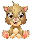 Roztomilý kočka karikatury
