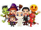 Halloween kids costumes witch Frankenstein Dracula cat costume Red Devil mummy Pumpkin Head