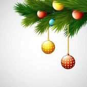 Christmas decoration with balls and fir branches