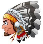 Vector illustration of Cartoon Indian Chief