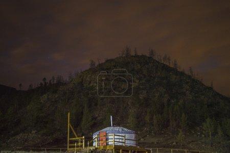 Buryat Yurt, under the light of the sky.