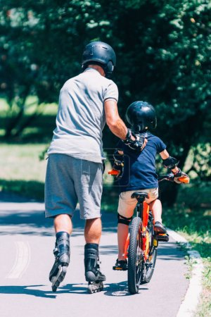 Riding together, spending quality active time outdoors