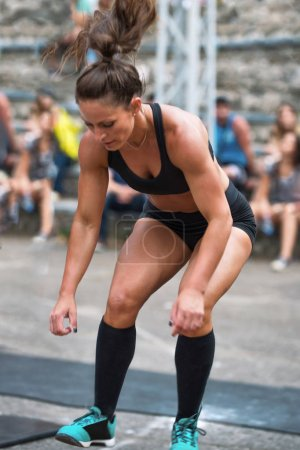 woman at Cross training competition