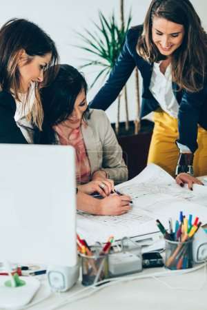 female Architects working in the  office